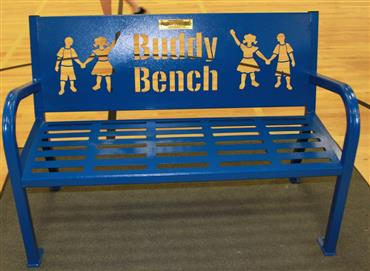 Buddy Bench donated by Kaiser Permanente