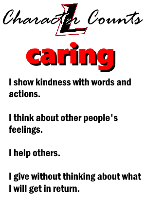 December Character Trait of the Month: CARING