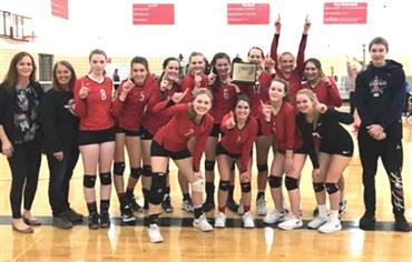 Lancer Volleyball District Champions