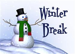 Winter Break, Dec. 20-Jan. 2