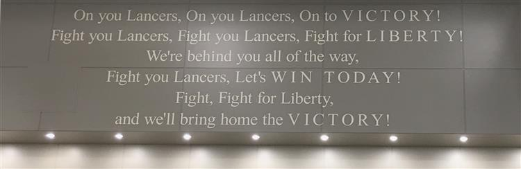 Lancer fight song in new gym
